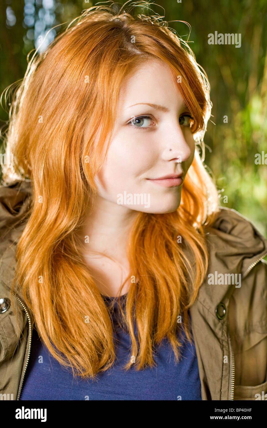 Redhead teenager