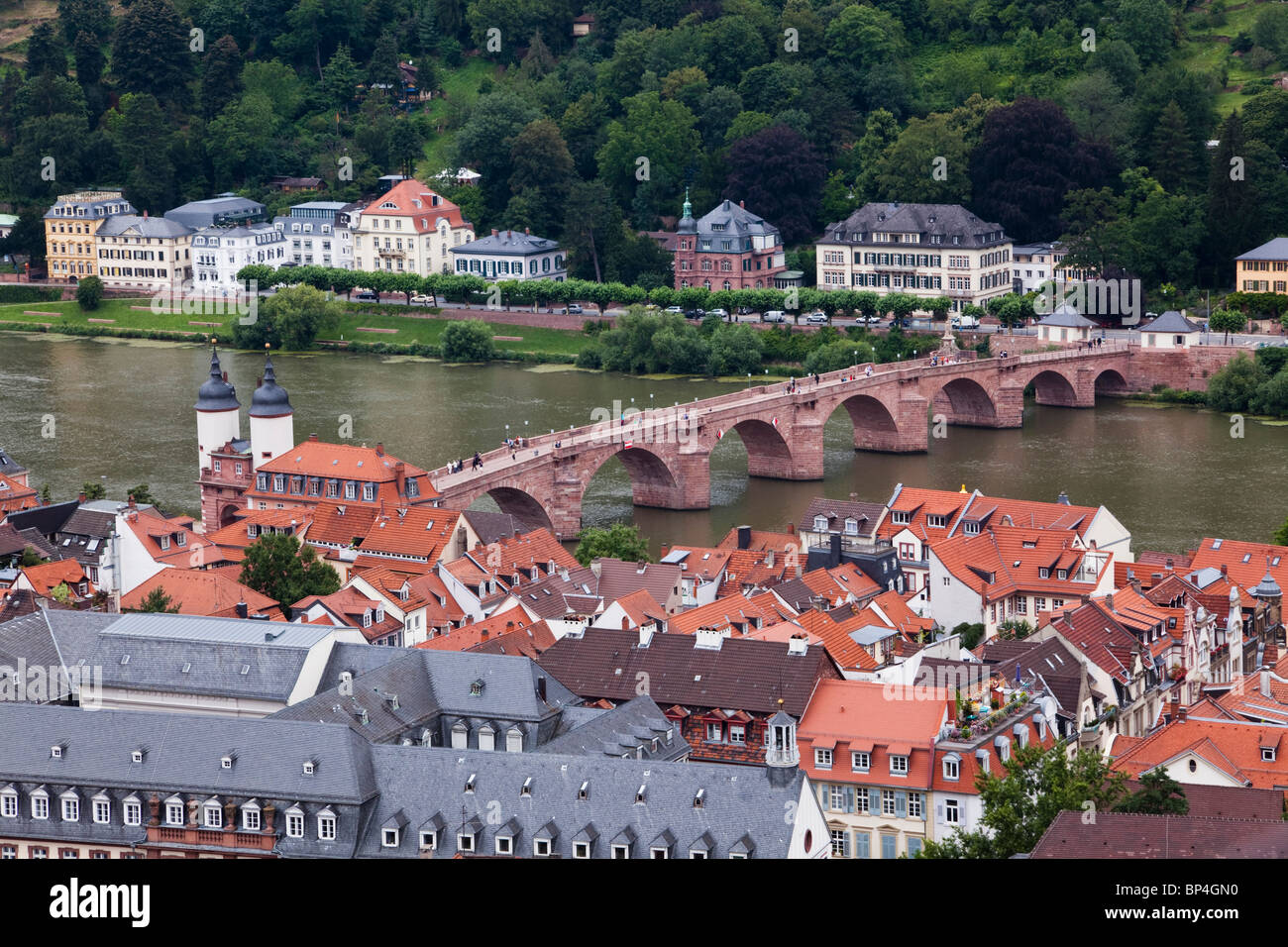 historic heidelberg bridge old town neckar river viewed from stock photo royalty free image. Black Bedroom Furniture Sets. Home Design Ideas
