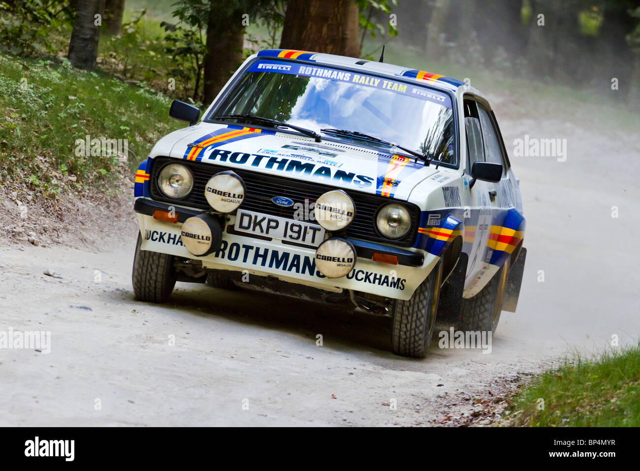 1979 Ford Escort Mk2 RS1800 rally car with driver Andrew Haddon at ...