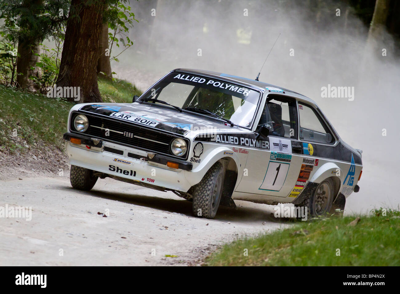 1975 Ford Escort Mk2 RS1800 rally car with driver David Watkins at ...