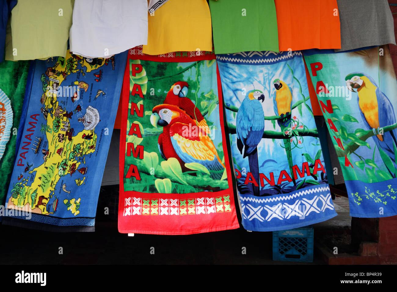 colourful beach towels for sale on market stall portobelo panama - Beach Towels On Sale