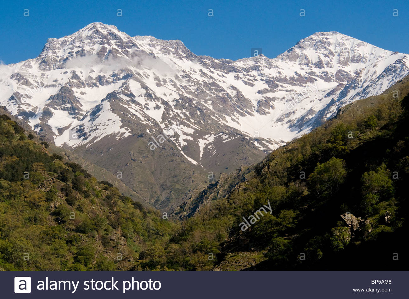 the mountain range of nevada in andalucia spain the snow stock photo royalty free