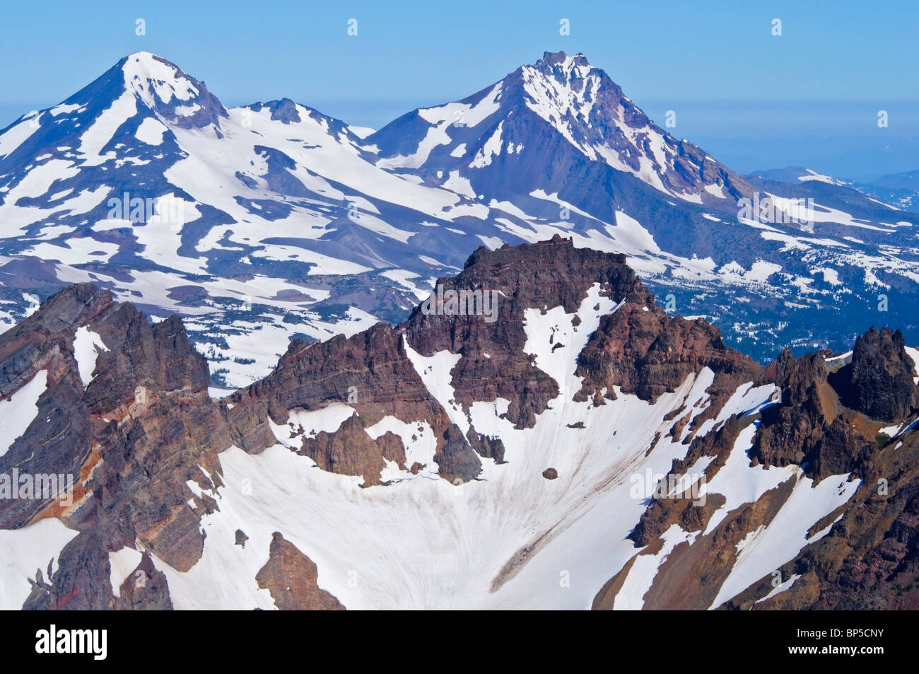 Oregon United States Of America Aerial View Of Broken Top And - Mountain ranges of the united states