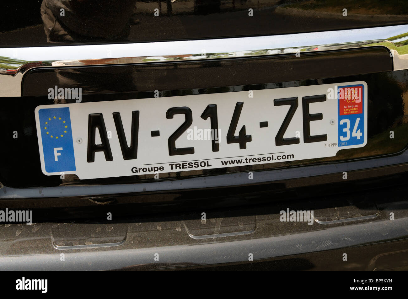 French Car Number Plate Issued In The Languedoc Roussillon Region