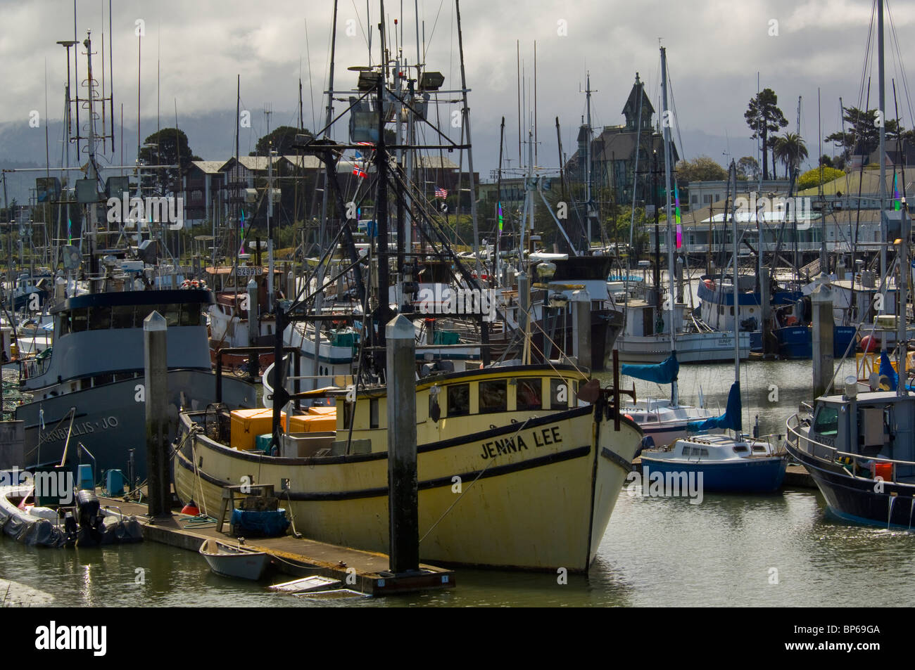 Commercial fishing boats docked in harbor at woodley for Eureka ca fishing