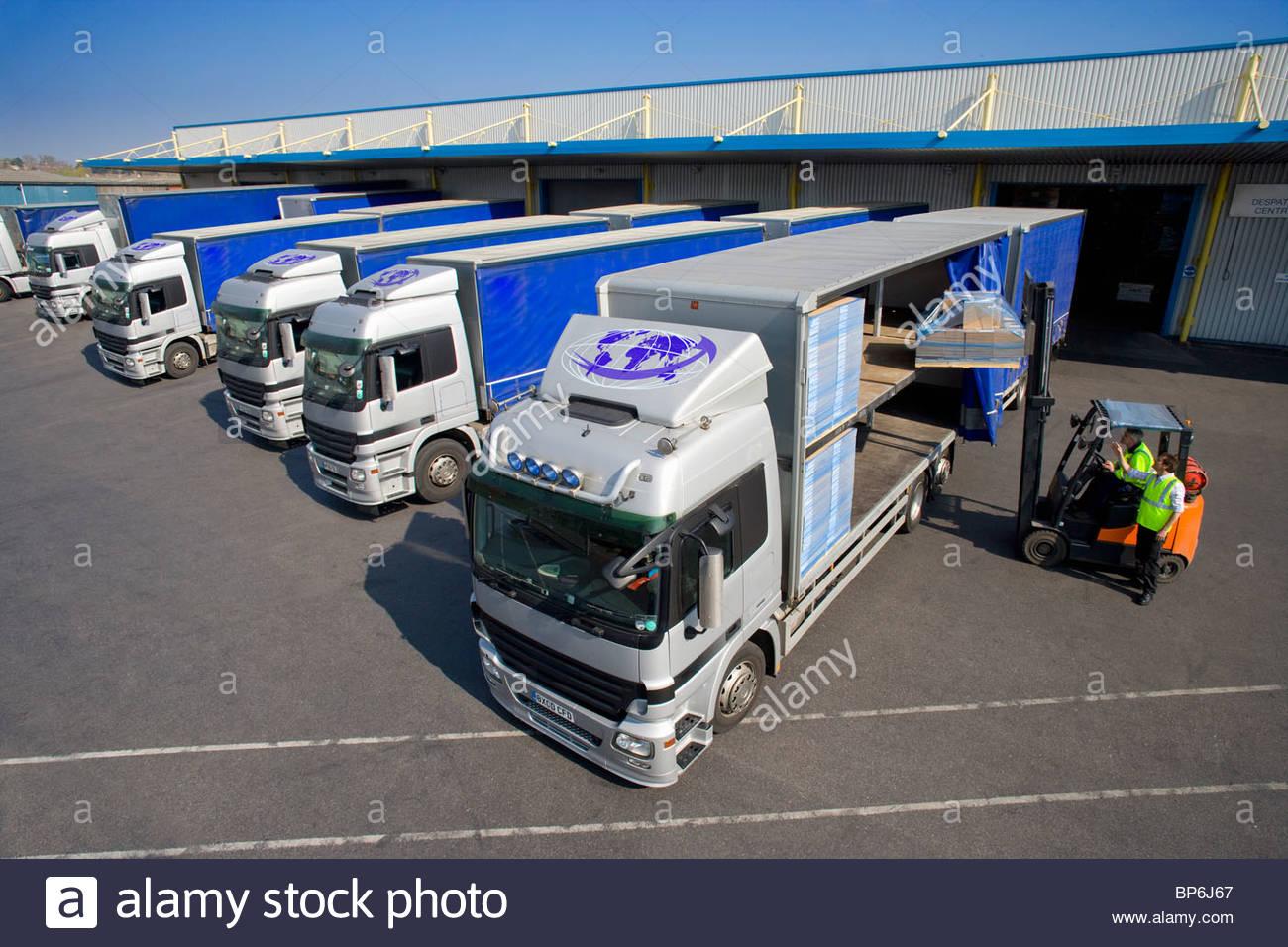 Logistics services trucks
