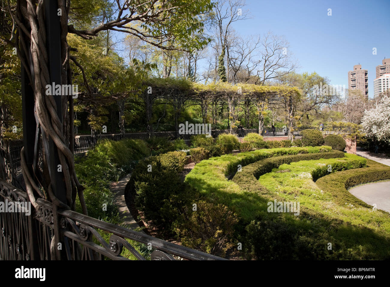 The Conservatory Garden Central Park Nyc Stock Photo