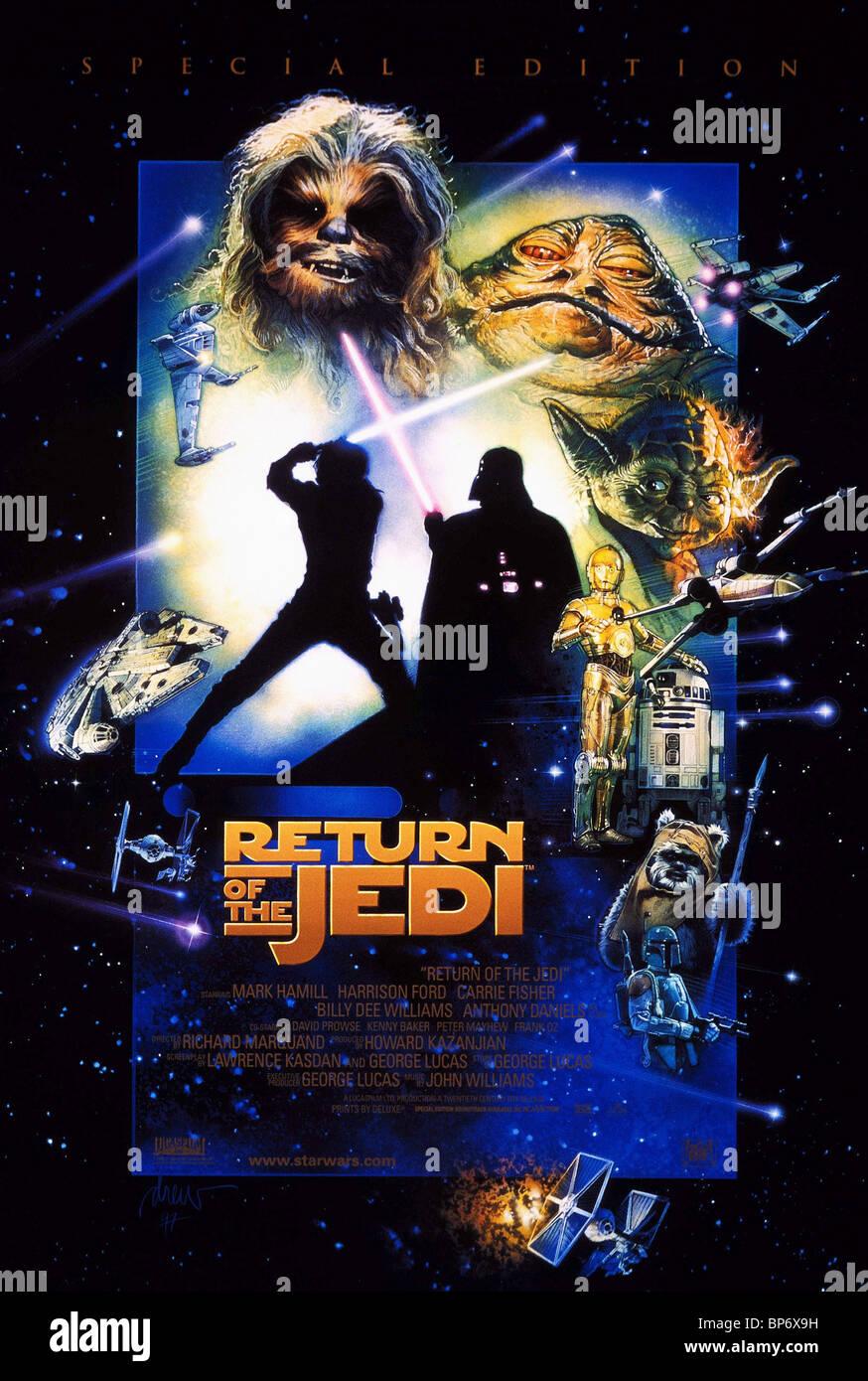 movie poster star wars return of the jedi star wars. Black Bedroom Furniture Sets. Home Design Ideas