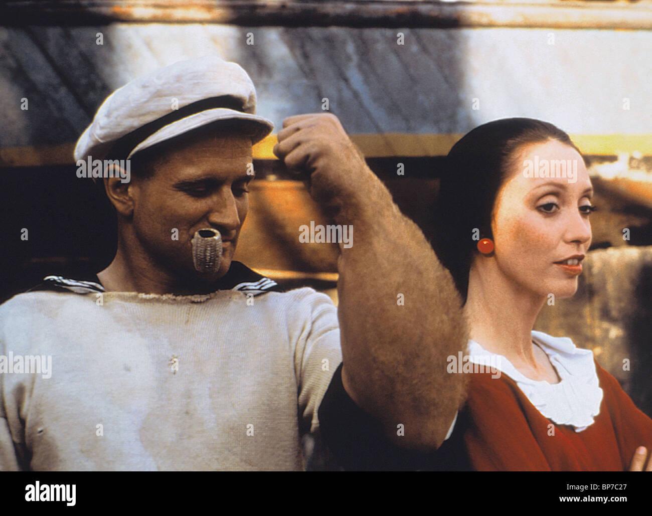 Robin Williams Shelley Duvall Popeye 1980 Stock Photo