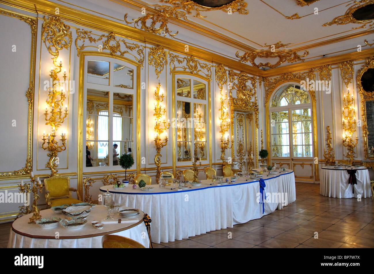 the cavaliers' dining room, the catherine palace, pushkin, saint