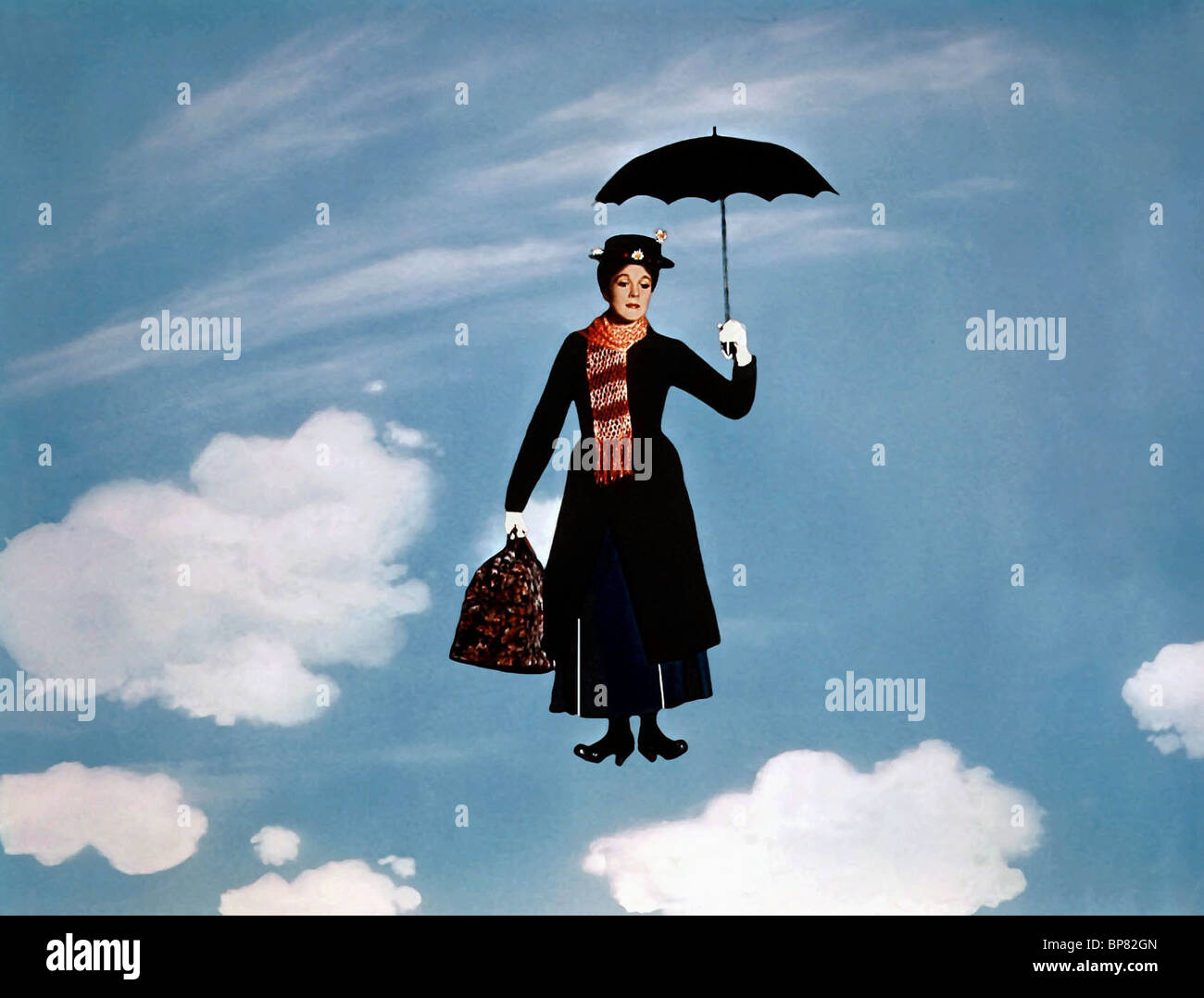 julie andrews mary poppins 1964 stock photo royalty free