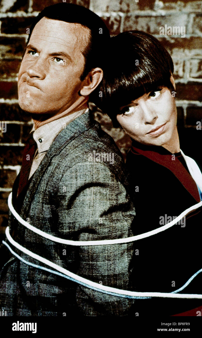 don adams amp barbara feldon get smart 1965 stock photo