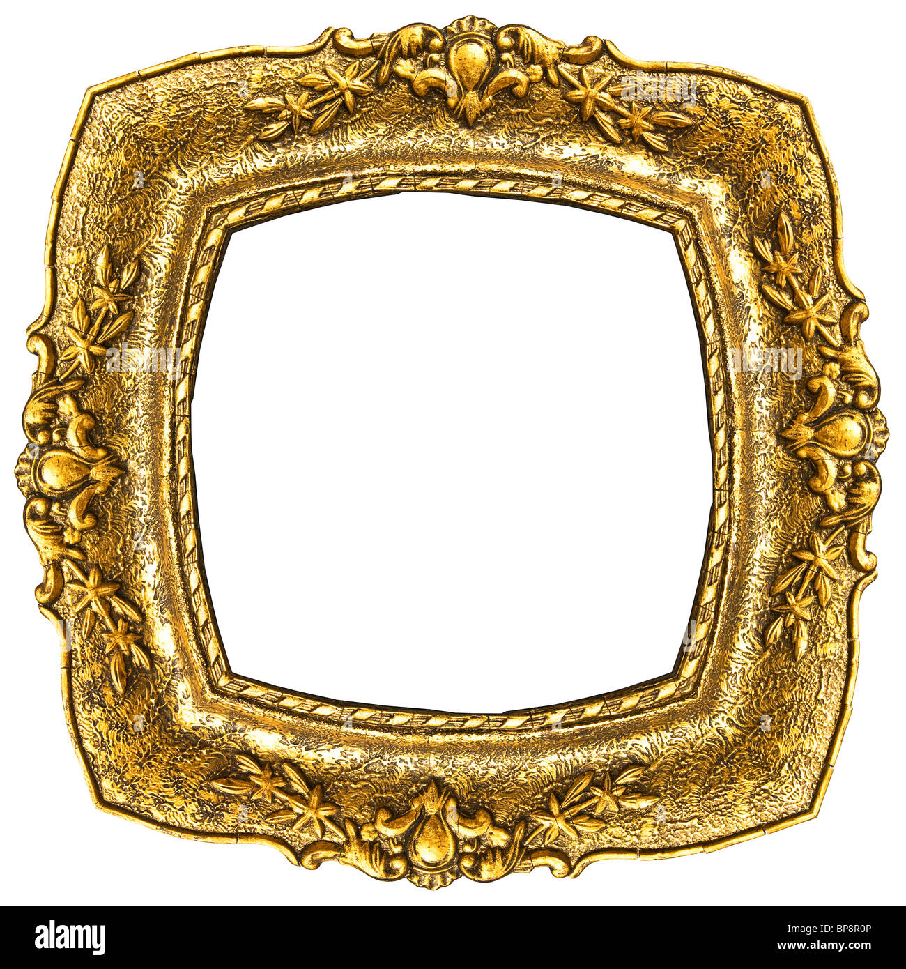 Old fashion retro gold picture frame isolated on white background old fashion retro gold picture frame isolated on white background jeuxipadfo Gallery