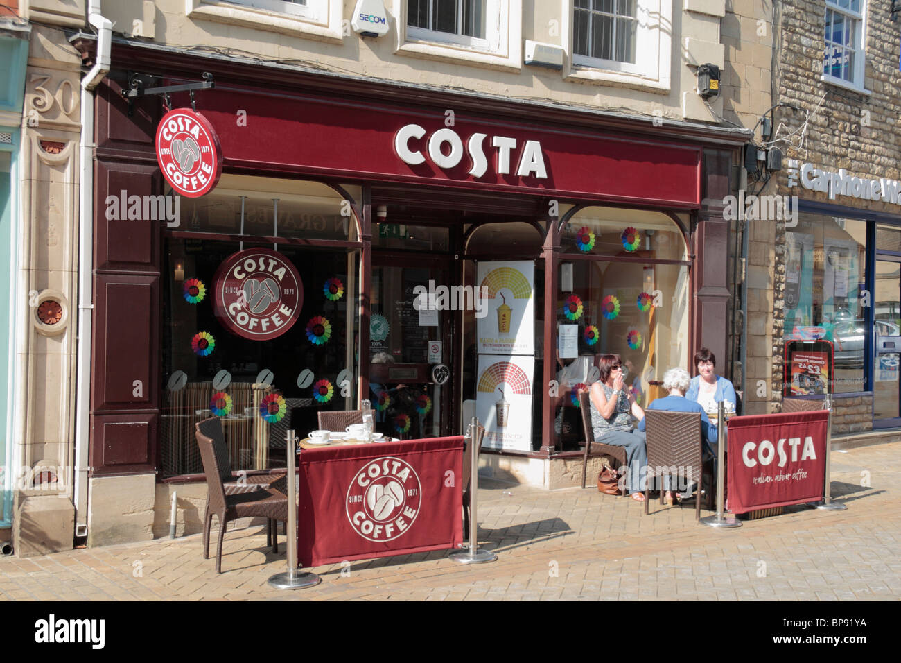 The Shop Front To A Costa Coffee Restaurant Cafe In The