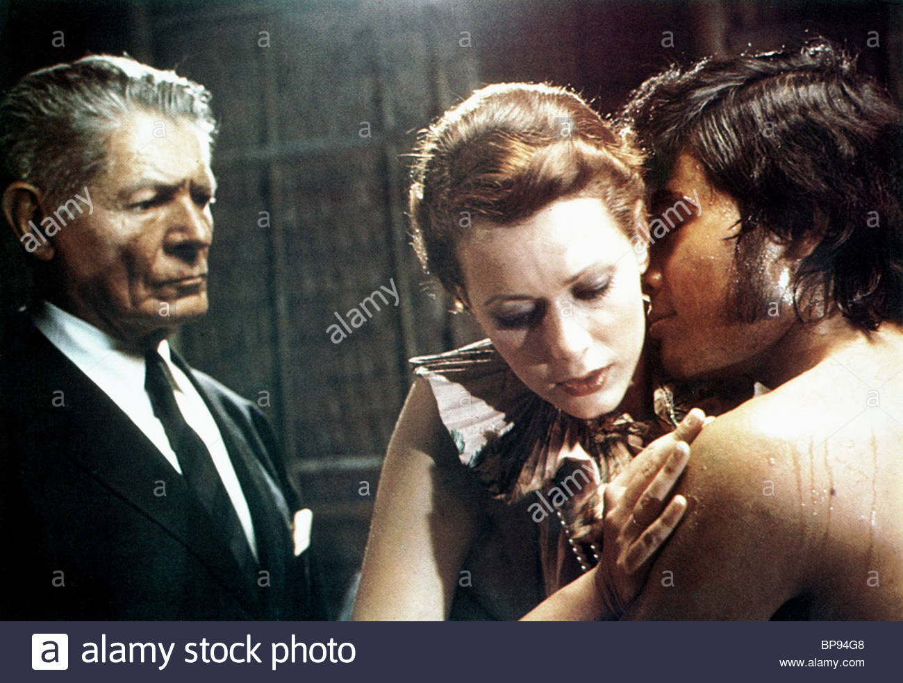 ALAIN CUNY & SYLVIA KRISTEL EMMANUELLE (1974 Stock Photo ...