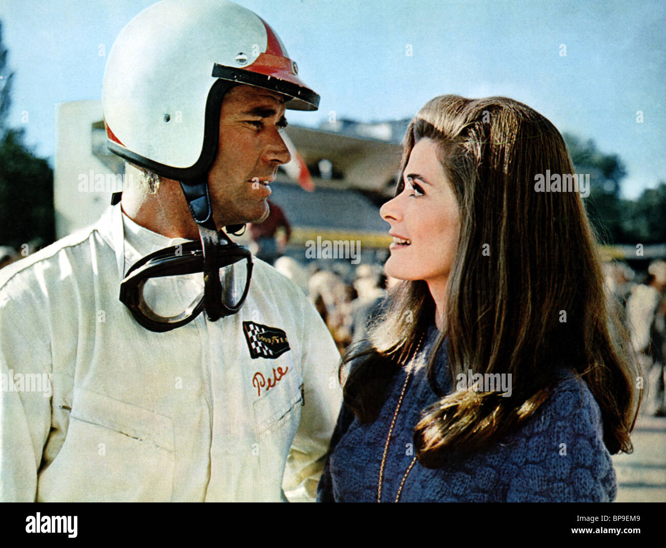 james garner amp jessica walter grand prix 1966 stock photo