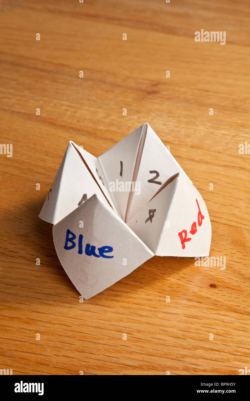 Paper fortune teller close up stock photo royalty free image paper fortune teller close up jeuxipadfo Images