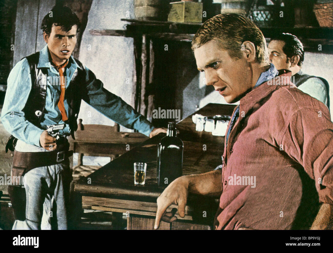 HORST BUCHHOLZ & STEVE MCQUEEN THE MAGNIFICENT SEVEN (1960 ...