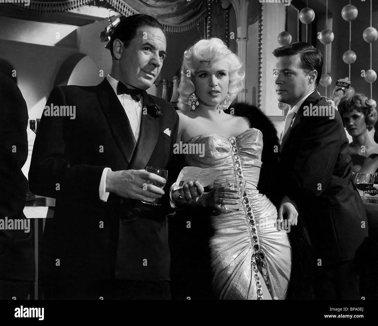 Leo genn jayne mansfield karlheinz bohm too hot to handle 1960 stock image
