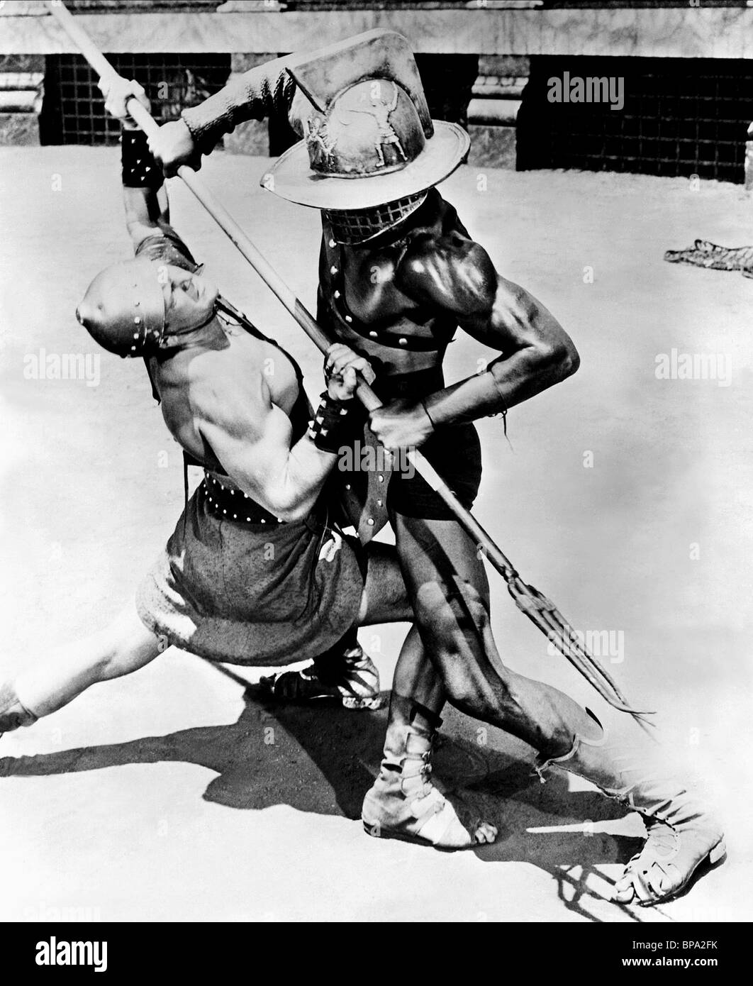 Fight Scenes Are Like Learning A Dance You Learn It Move: GLADIATORS FIGHT SCENE DEMETRIUS AND THE GLADIATORS (1954