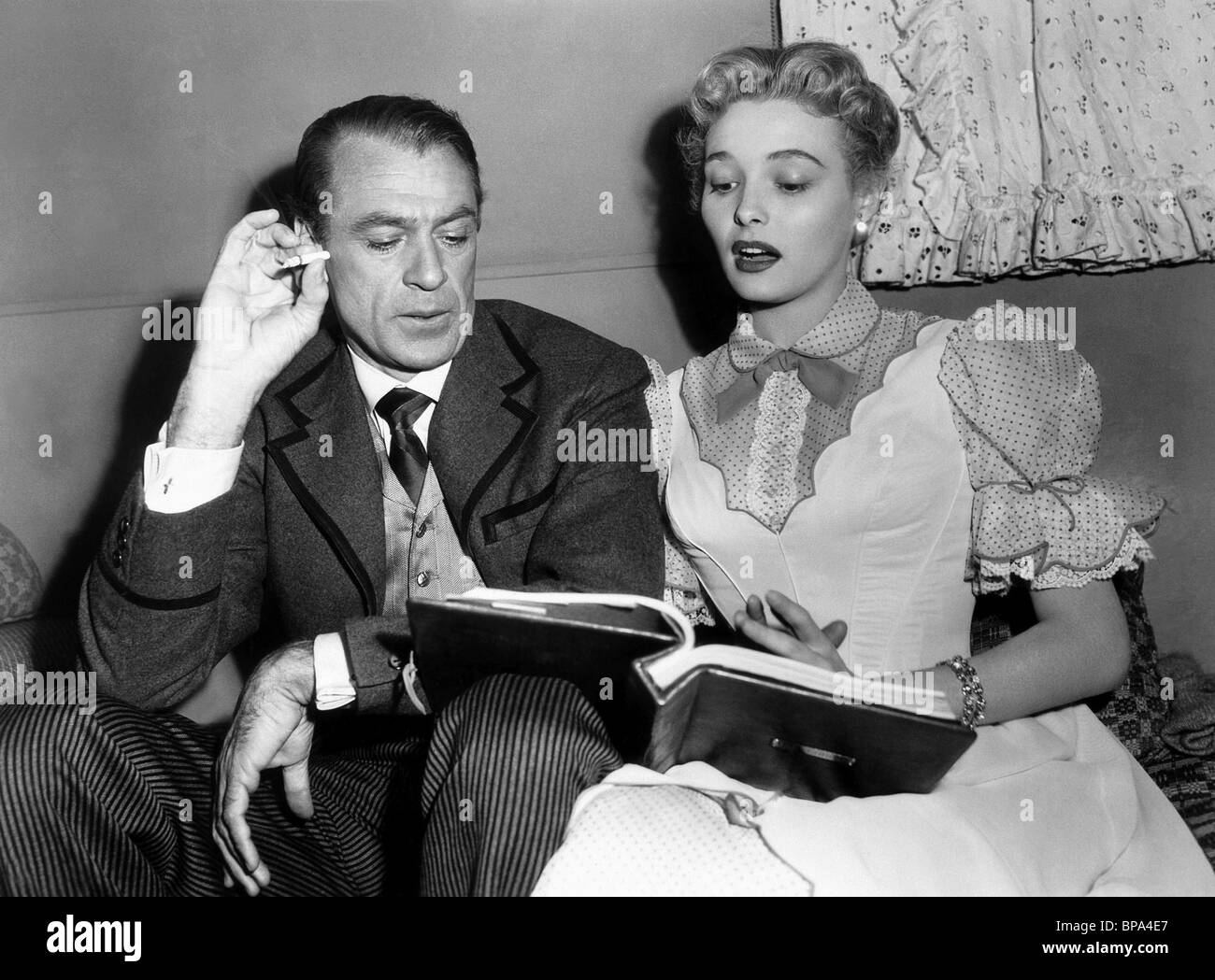 gary cooper amp patricia neal bright leaf 1950 stock photo