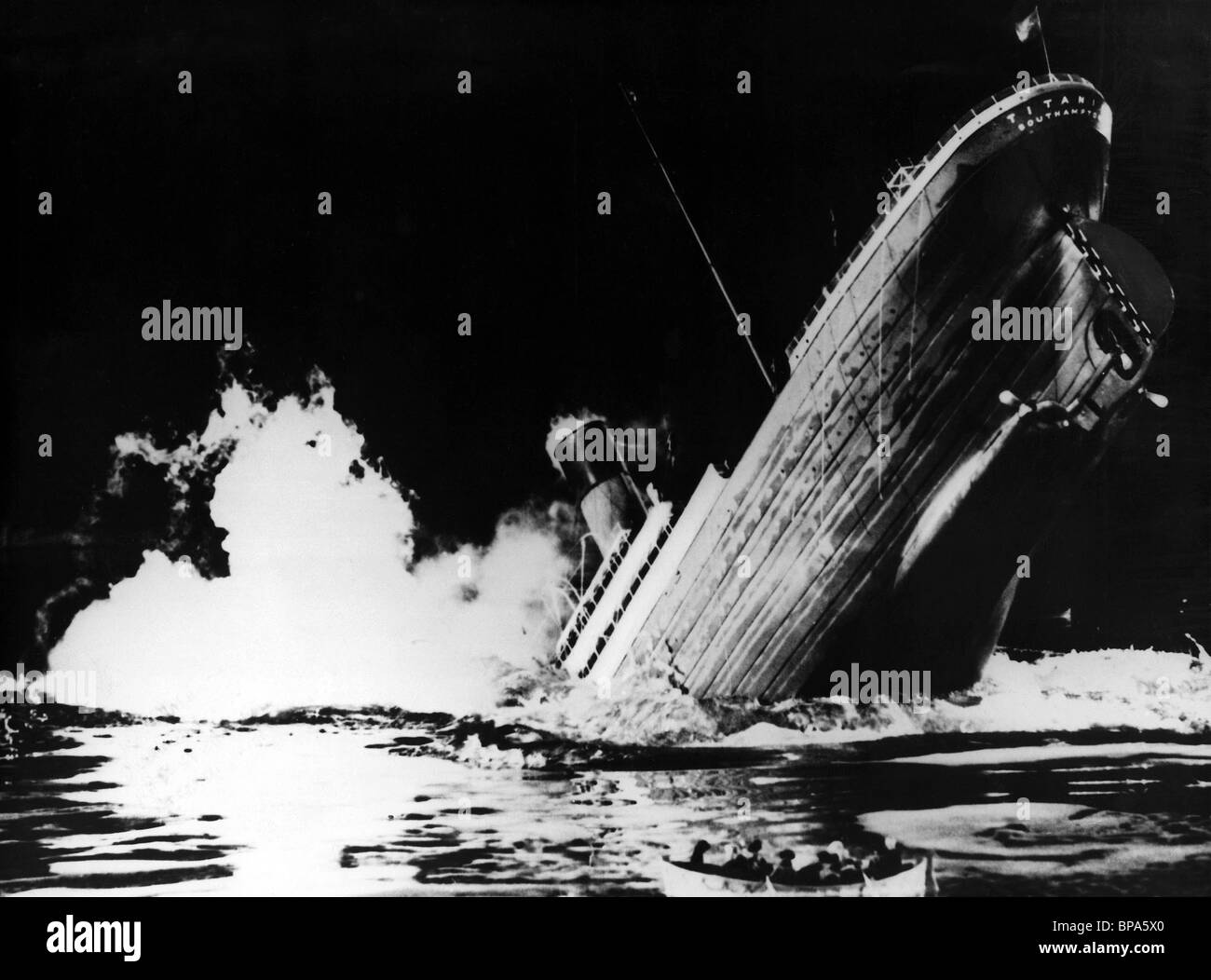 SINKING SHIP SCENE TITANIC (1953 Stock Photo, Royalty Free ...