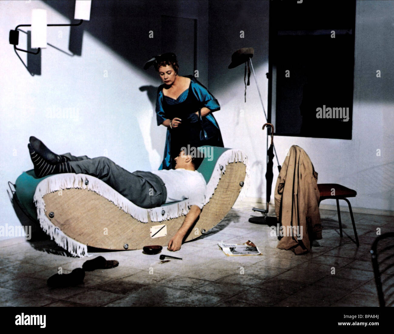Jacques tati adrienne servantie my uncle mon oncle 1958 stock photo - Jacques tati mon oncle ...