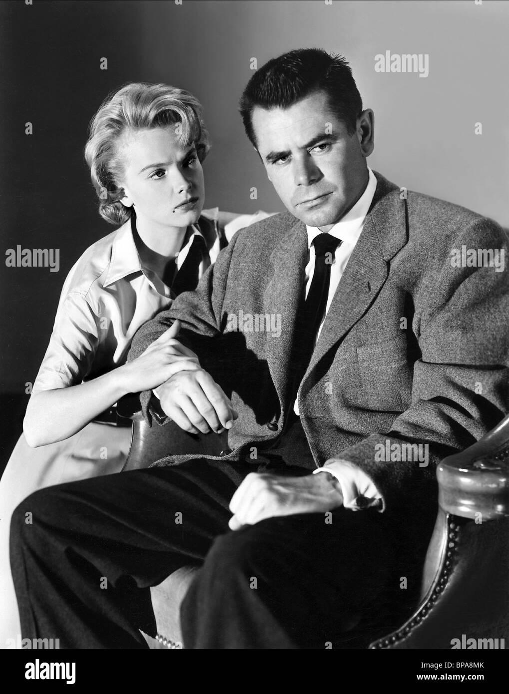 Anne francis glenn ford blackboard jungle 1955 stock image