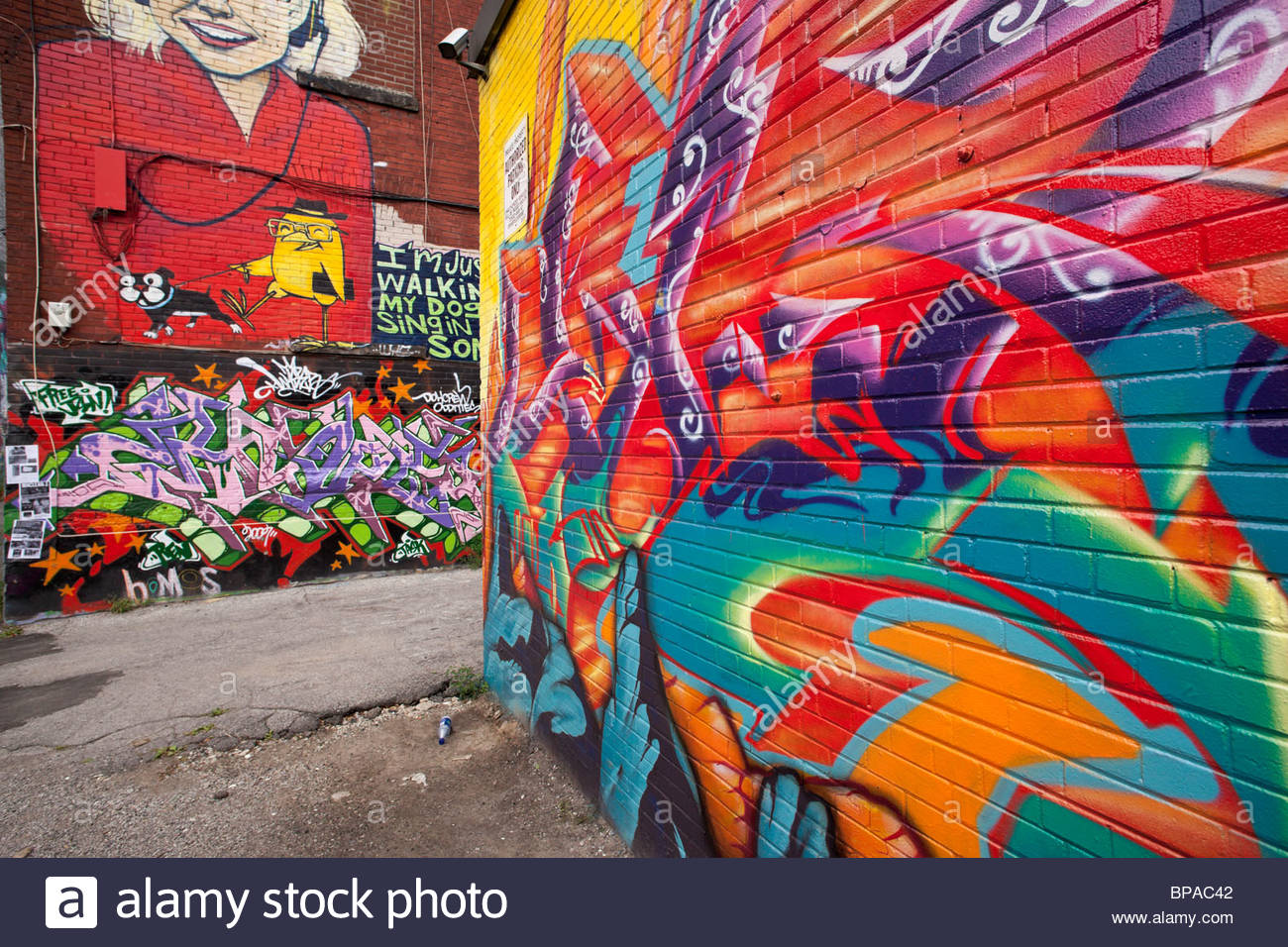 Graffiti wall toronto downtown -  Graffiti On A Wall In A Back Alley Of The Fashion District Near Queen West In