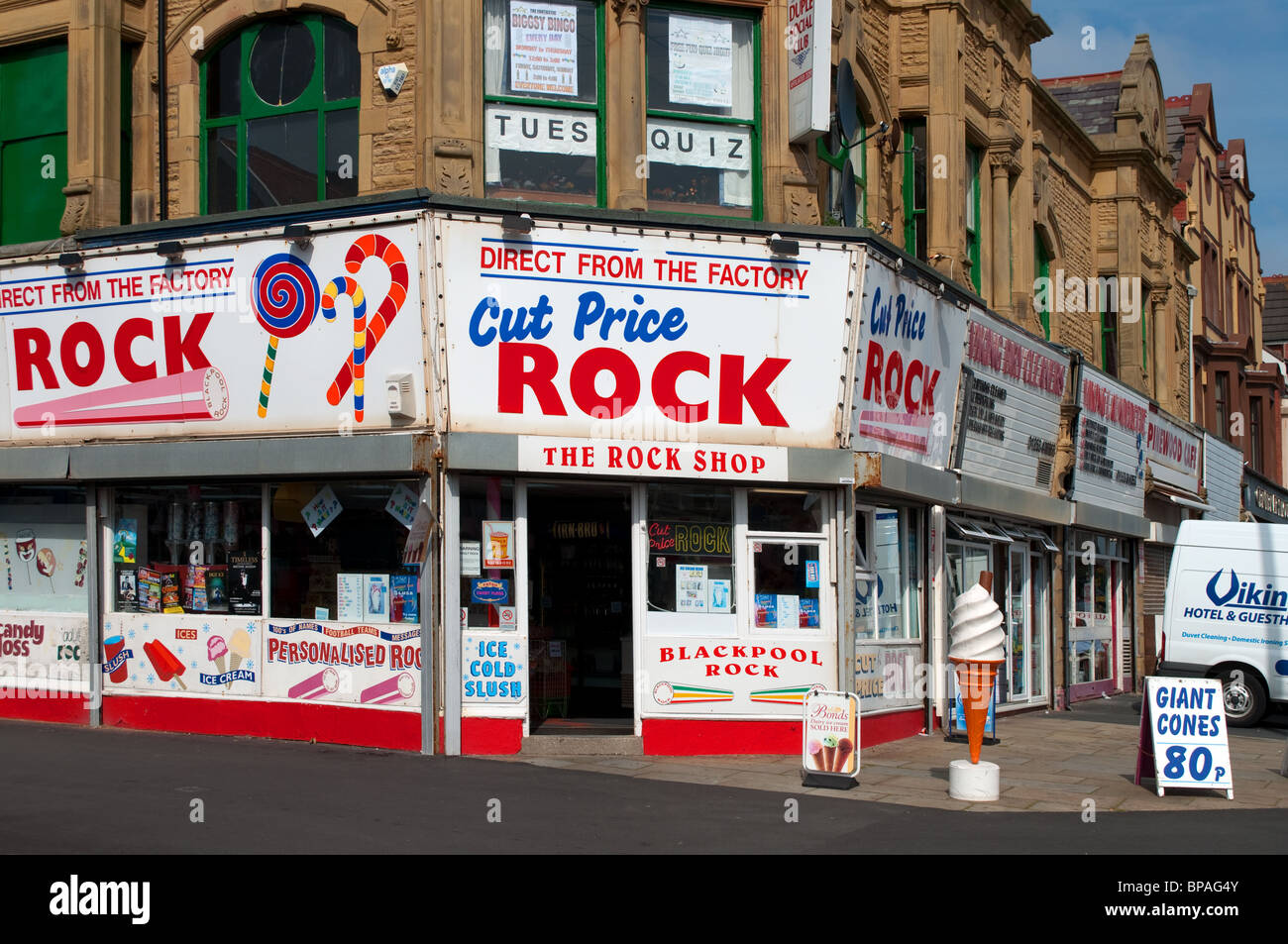A Traditional Sweet Rock Shop Shop In Blackpool England