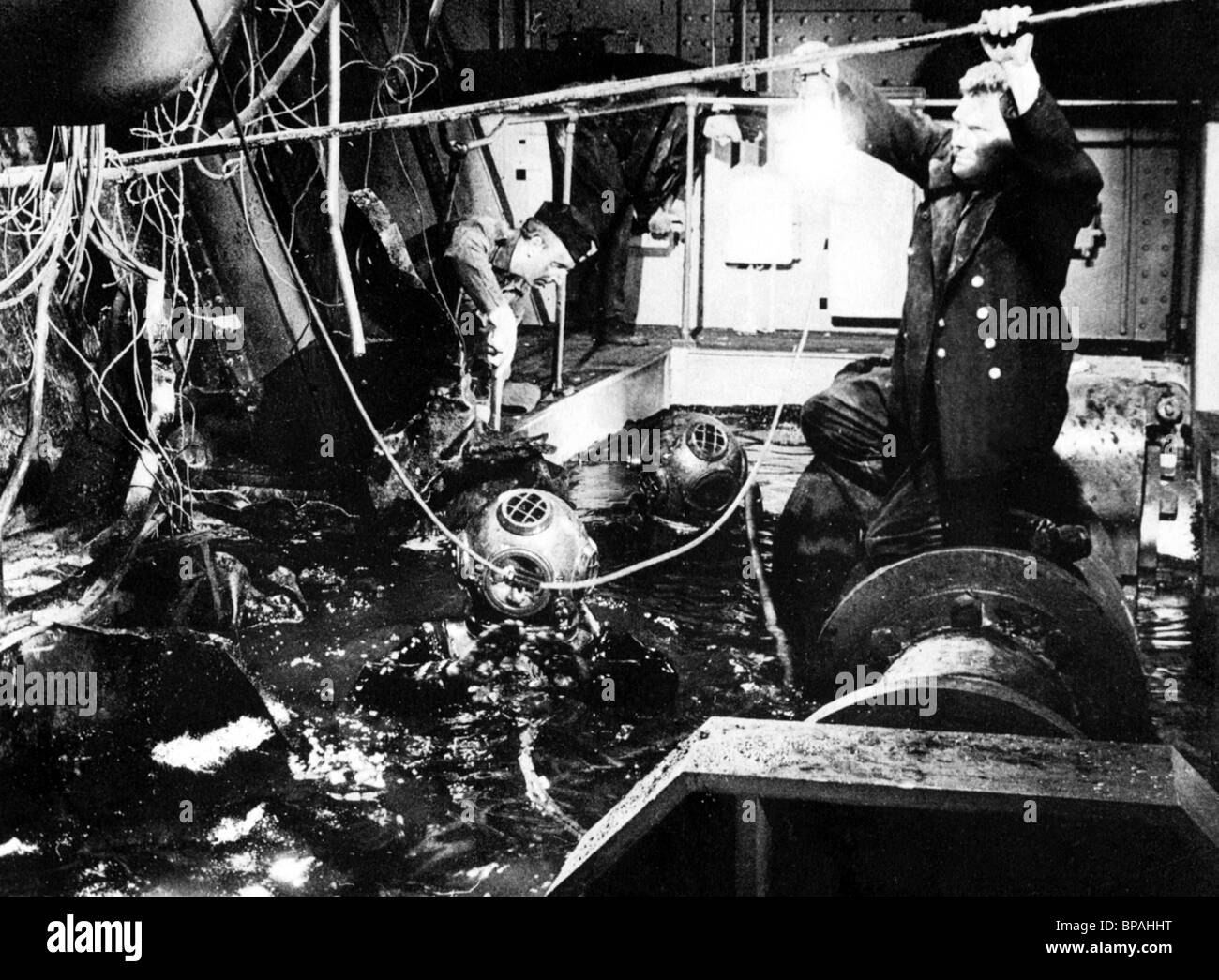 movie scene sink the bismarck 1960 stock photo royalty