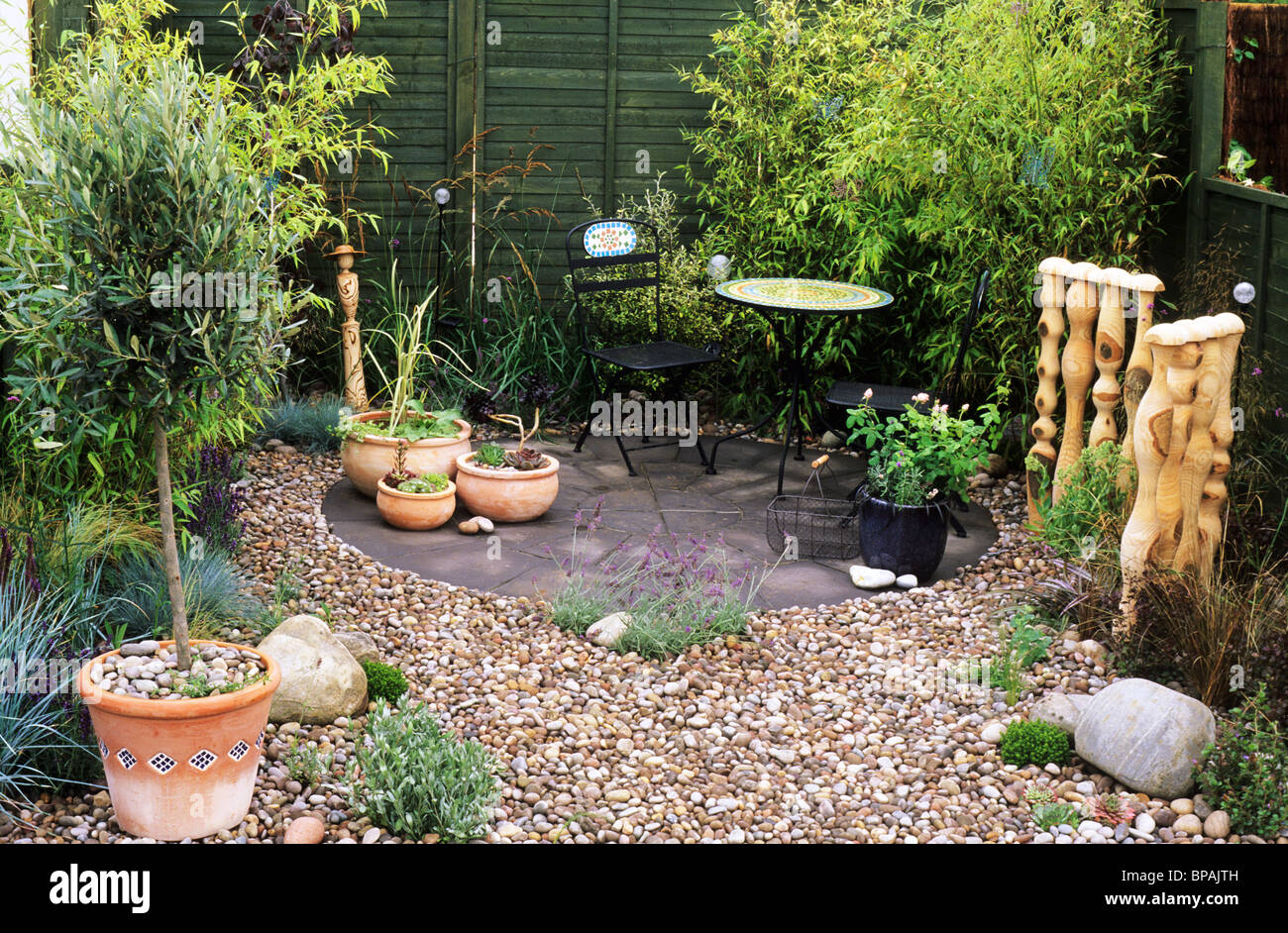 pebble garden with bamboo sandringham flower show designer nicola glasel small gardens design designs