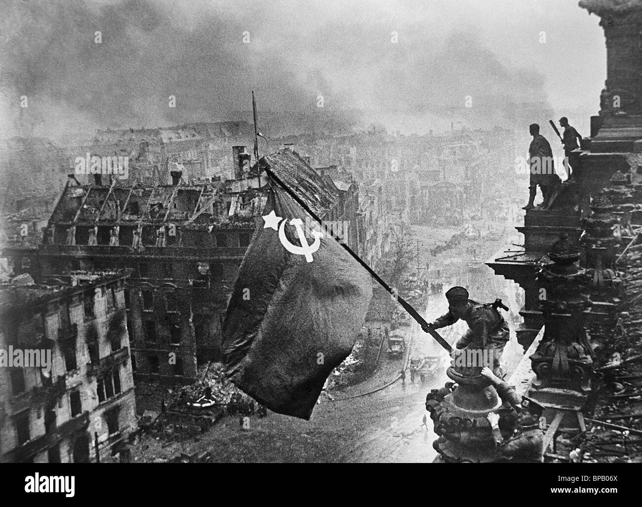 victory banner over berlin 1945 stock photo 30974466 alamy. Black Bedroom Furniture Sets. Home Design Ideas