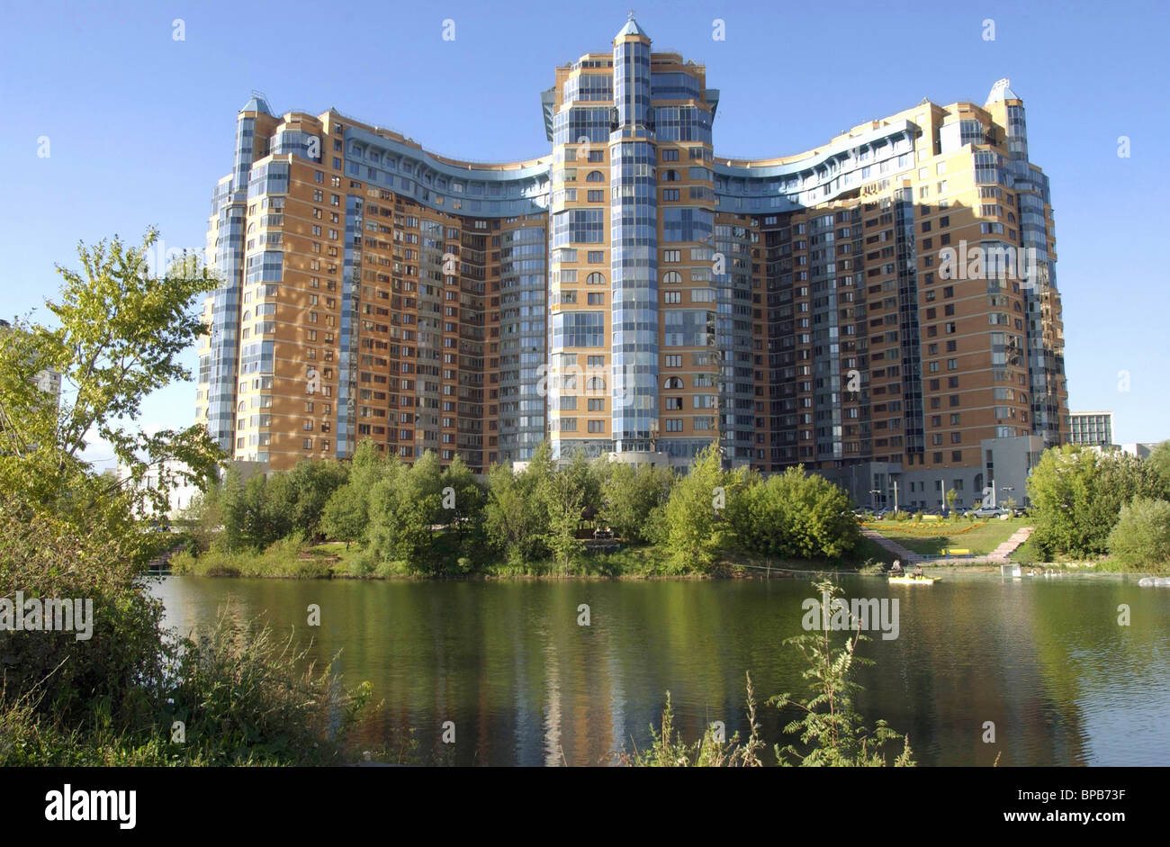 Apartment Houses luxury apartment houses in moscow stock photo, royalty free image