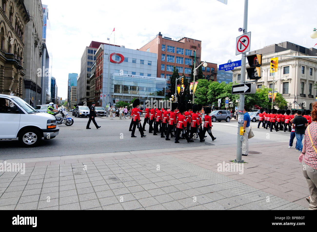 The governor general s foot guards - Regiment Of The Governor General S Foot Guards Marching To Parliament Hill Ottawa For Changing The Guard Ceremony
