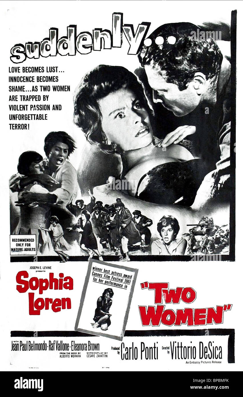 sophia loren two women movie posters