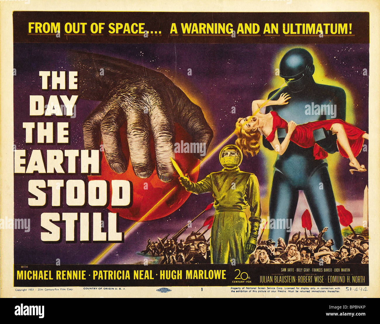 movie poster the day the earth stood still 1951 stock