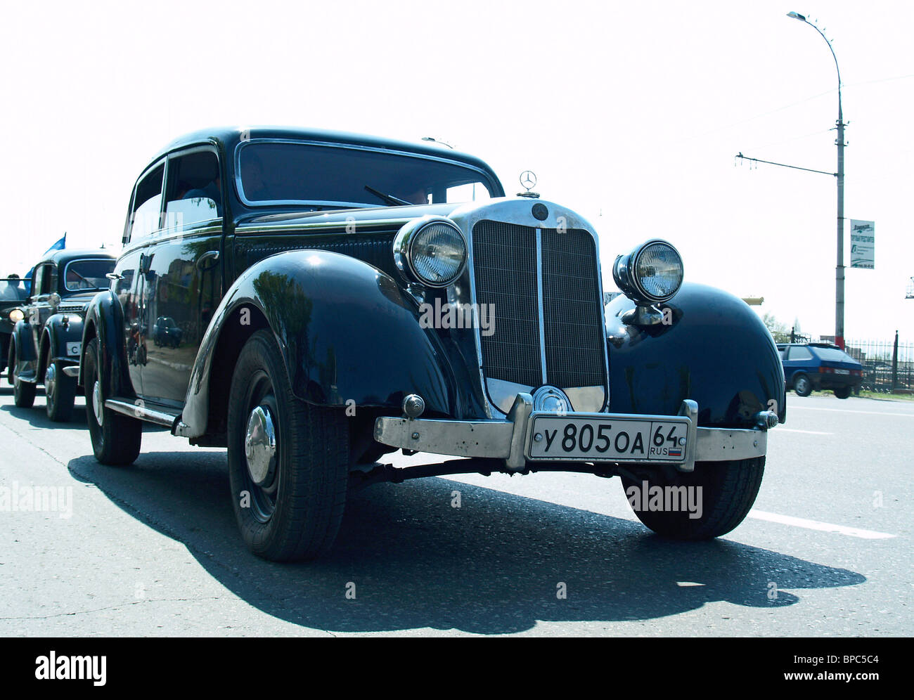 Vintage Automobiles Parade in Saratov Stock Photo, Royalty Free ...