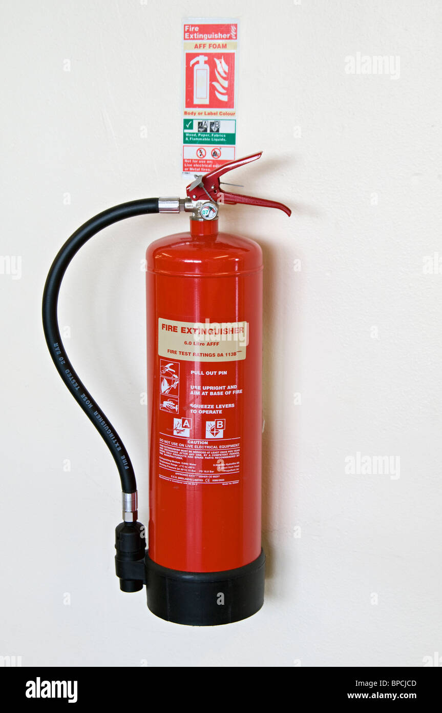 wall mounted fire extinguisher stock photos & wall mounted fire