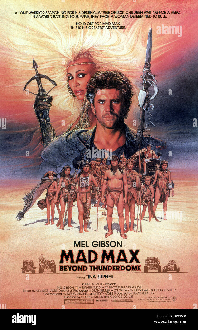 Exceptionnel TINA TURNER & MEL GIBSON POSTER MAD MAX BEYOND THUNDERDOME; MAD  OJ28