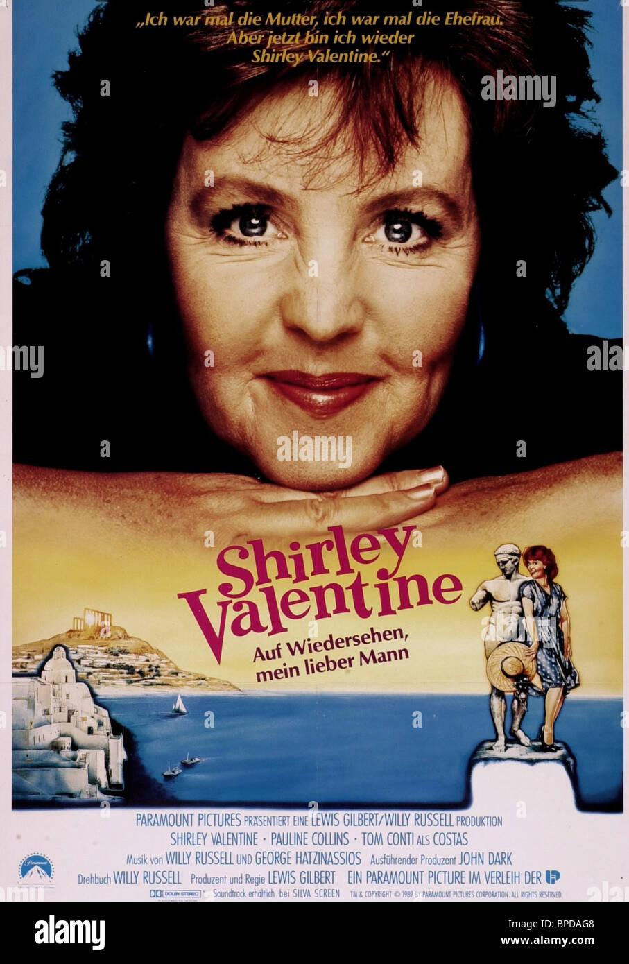 pauline collins poster shirley valentine 1989 stock photo