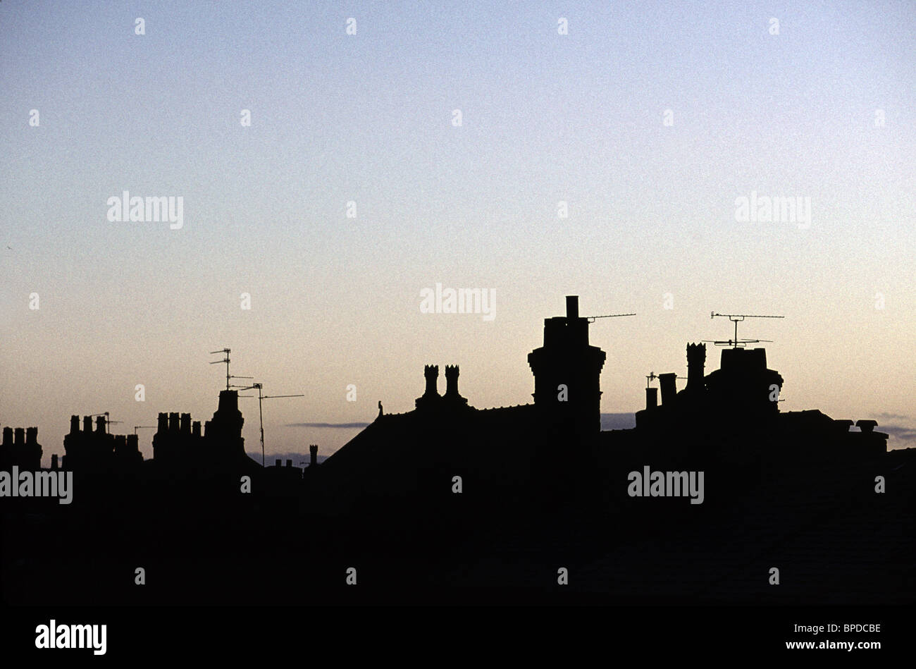 Silhouette Of London Rooftops At Dusk Stock Photo Royalty