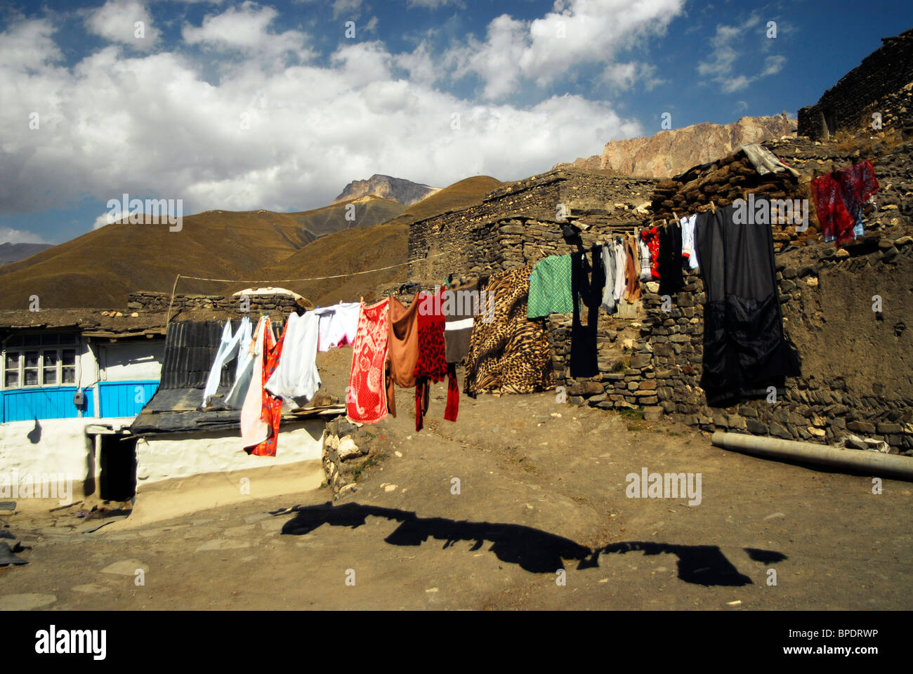 azerbaijan xinaliq view of old fashioned house against cloudy