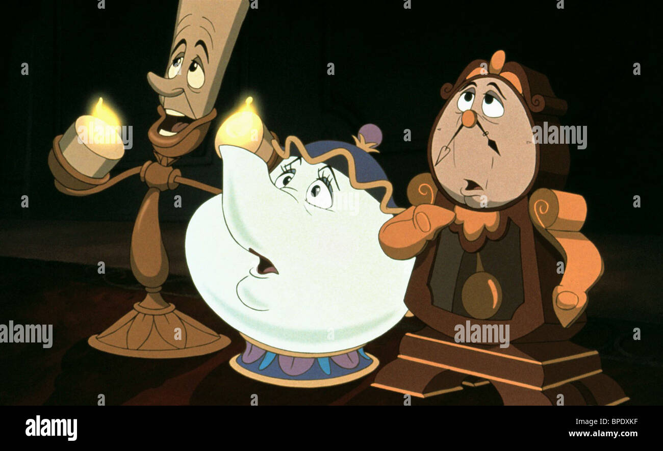 LUMIERE MRS POTTS COGSWORTH BEAUTY AND THE BEAST 1991