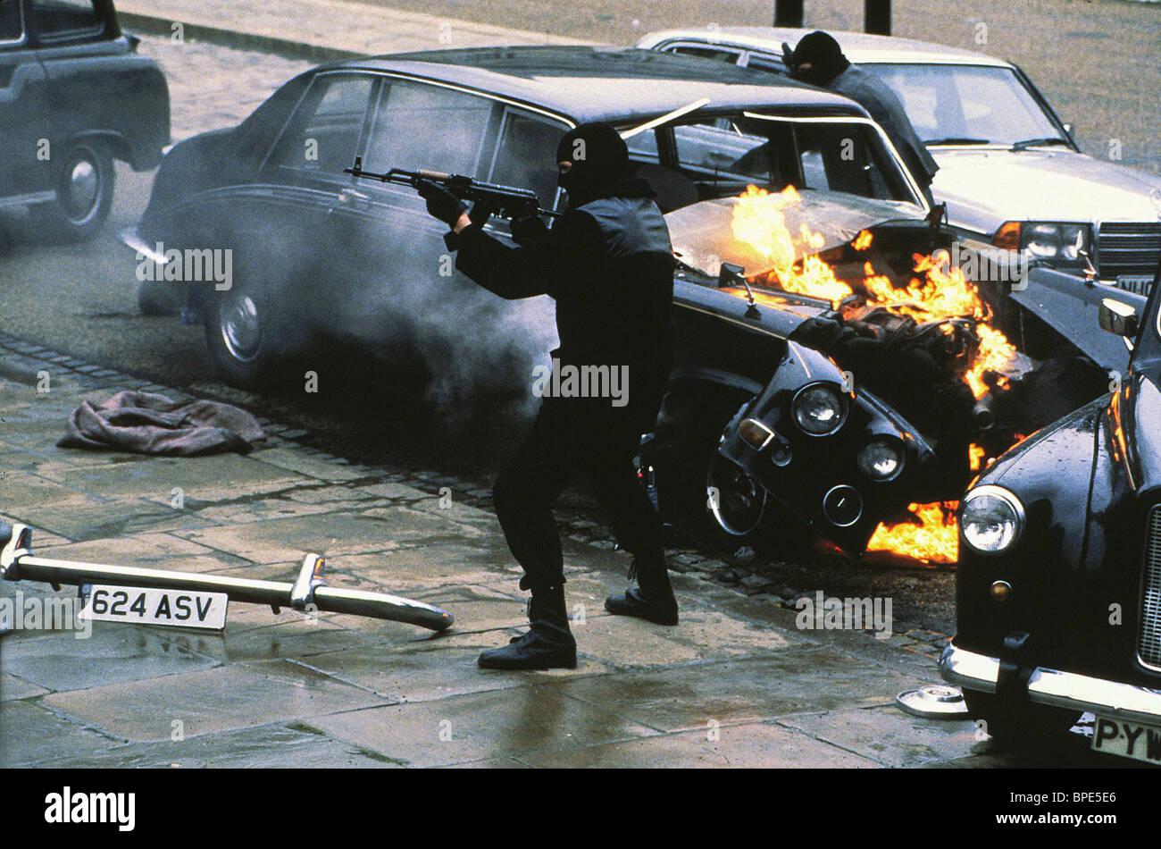 terrorist attack scene patriot games 1992 stock photo