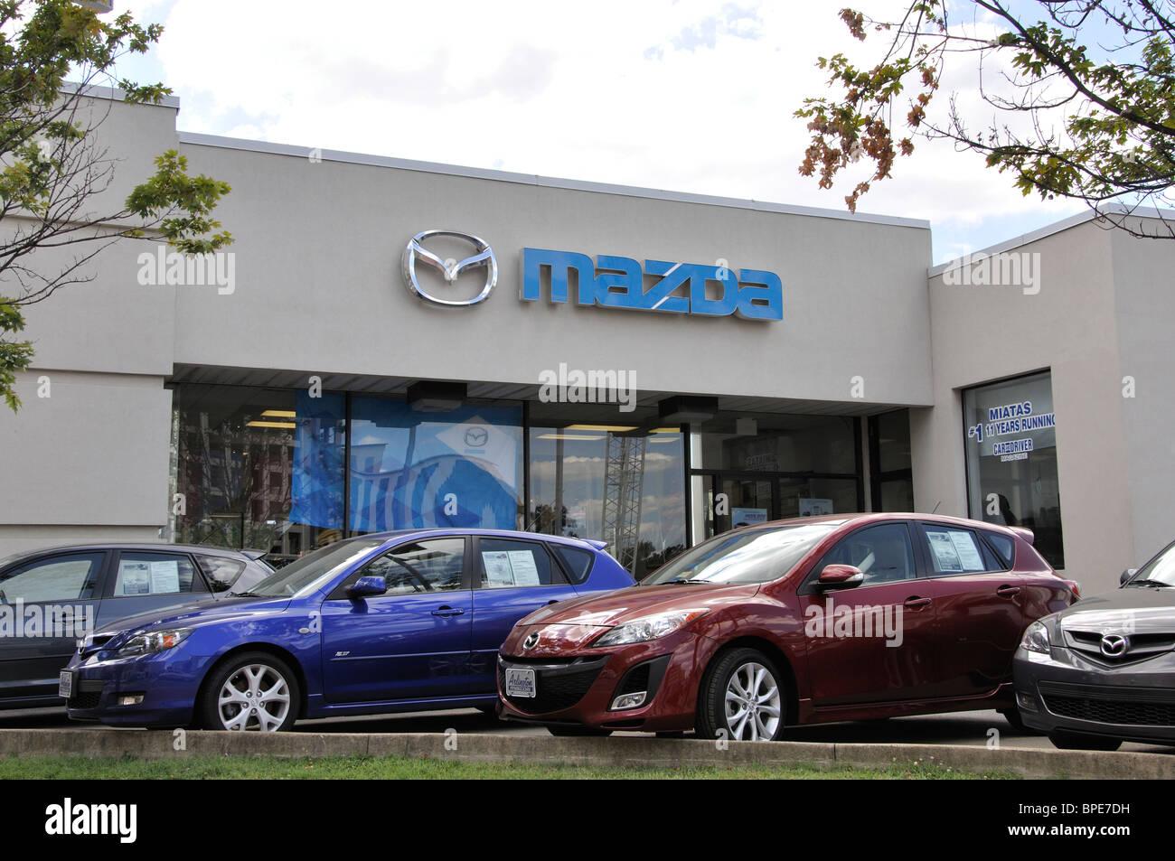 Mazda Dealership Arlington VA USA Stock Photo Royalty Free - Mazda dealership virginia