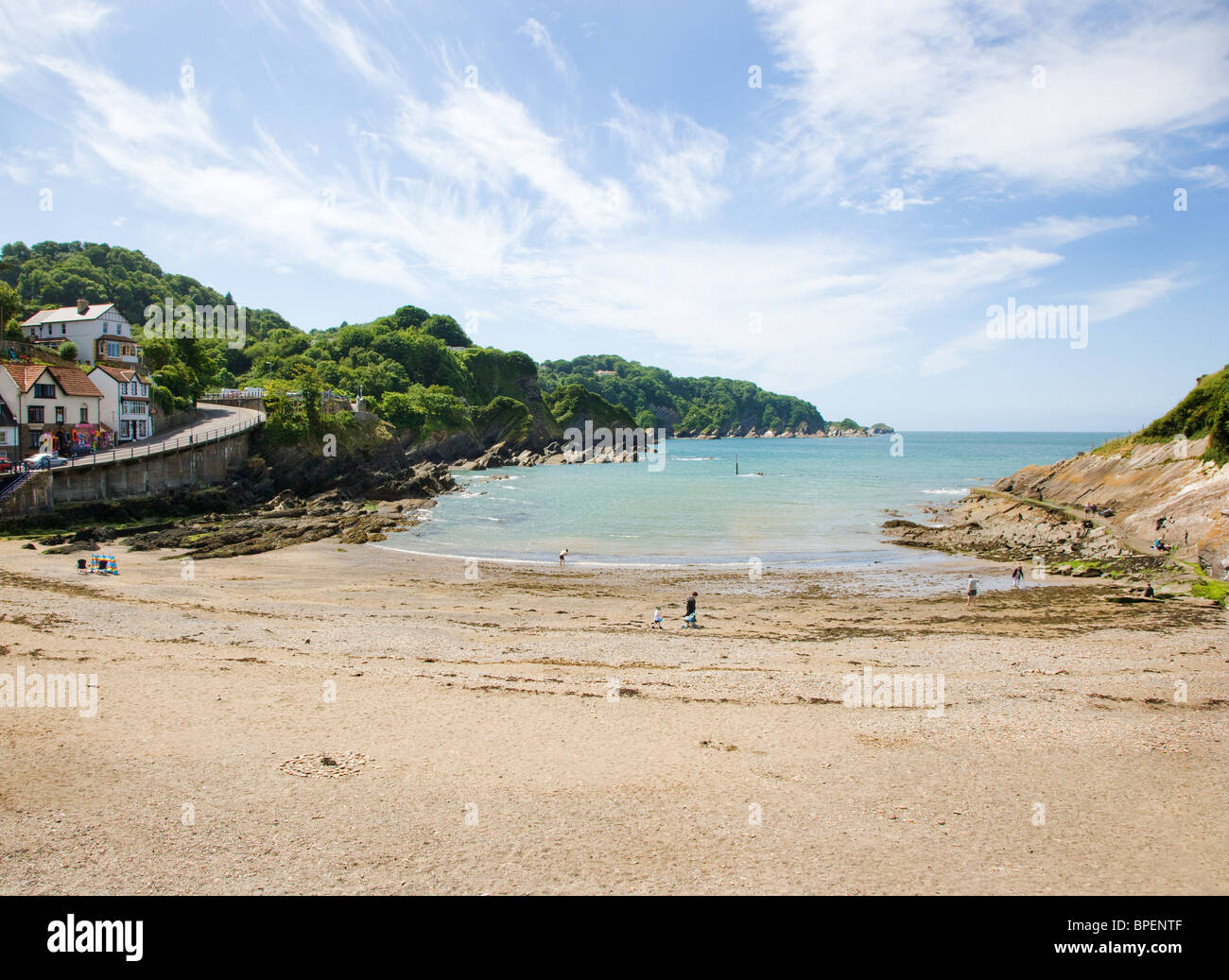 Beach At Combe Martin Seaside Resort Near Ilfracombe On The North Devon Coast