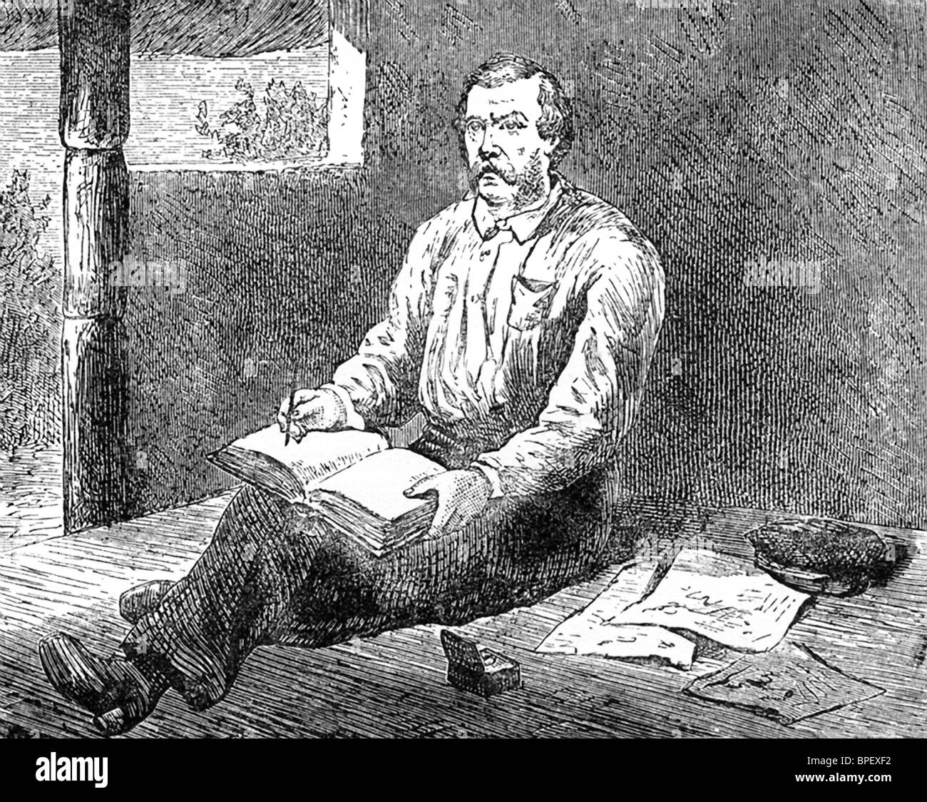 British Explorer Henry Morton Stanley Made This Sketch Of David Livingstone,  Scottish Missionary And Explorer In Africa  Dr Livingstone I Presume Movie