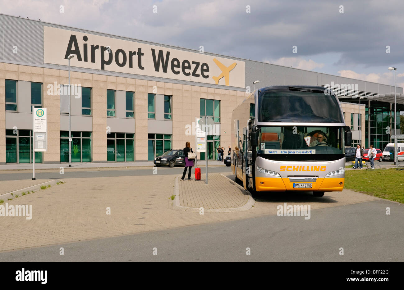 terminal building at weeze niederrhein airport with d sseldorf stock photo royalty free image. Black Bedroom Furniture Sets. Home Design Ideas