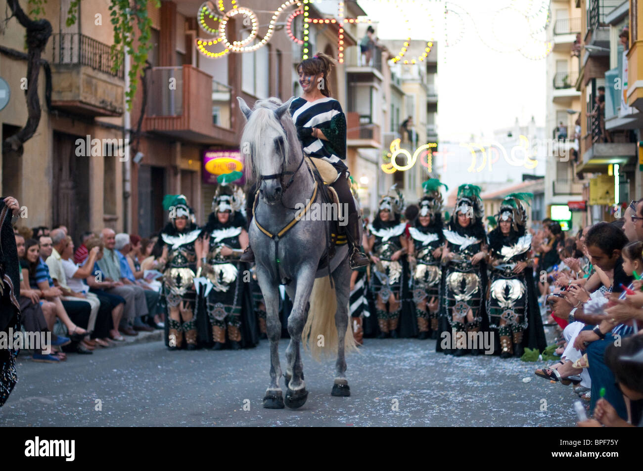 Festival Moors and Christians Celebration Pego Spain Stock ...